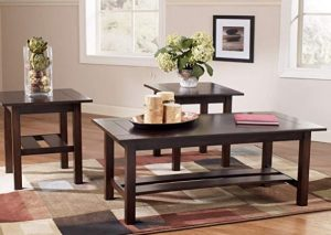 Ashley - Lewis Contemporary 3-Piece Table Set