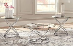 Ashley : Hollynyx Contemporary 3-Piece Table Set